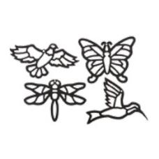 """Vitražų rinkinys """"Paukščiai ir vabzdžiai"""", BM 350023"""